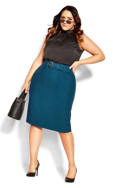 Perfect Suit Skirt - deep teal