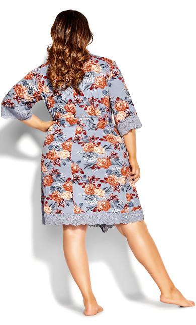 Vivid Meadow Robe - mauve