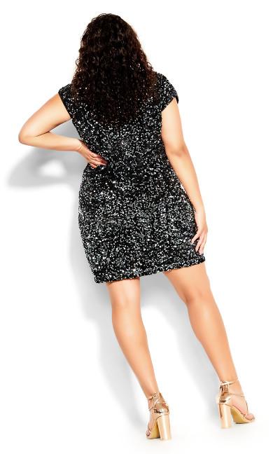 Sequin Party Dress - black