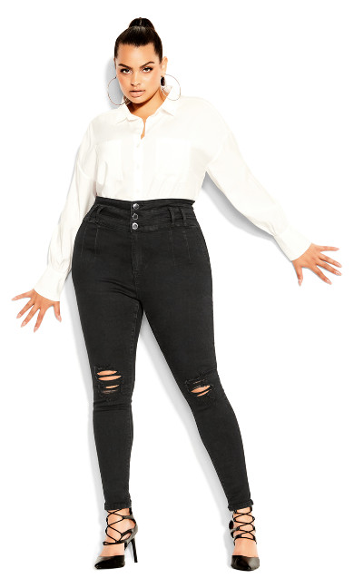 Asha Bailey Jean - black