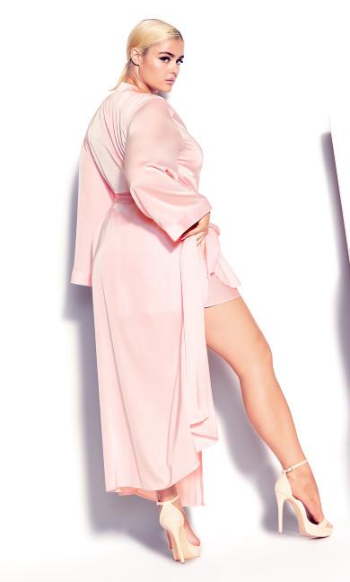 Long Satin Wrap - soft pink