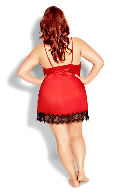 Stella Satin Chemise - red