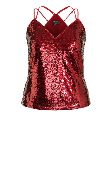 Glimmer Top - ruby