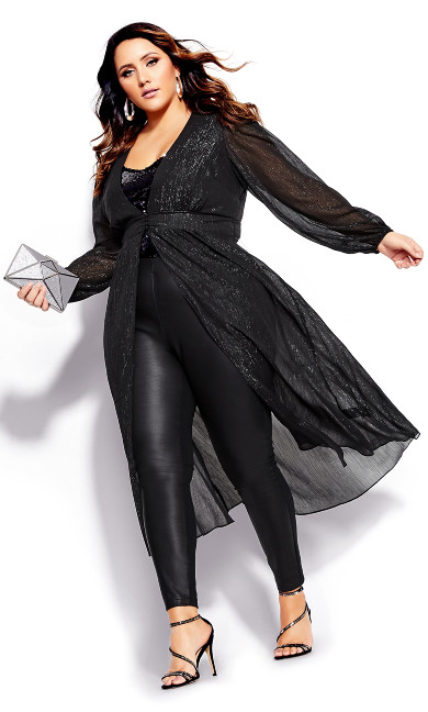 Women's Plus Size Disco Queen Jacket - black