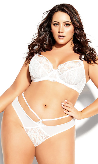 Plus Size Delores Thong - ivory
