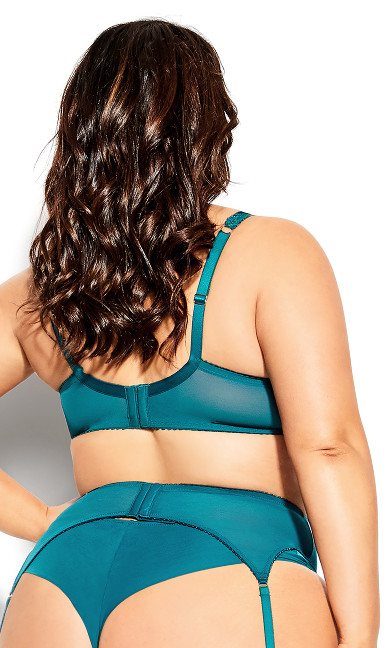 Abby Garter Belt - teal