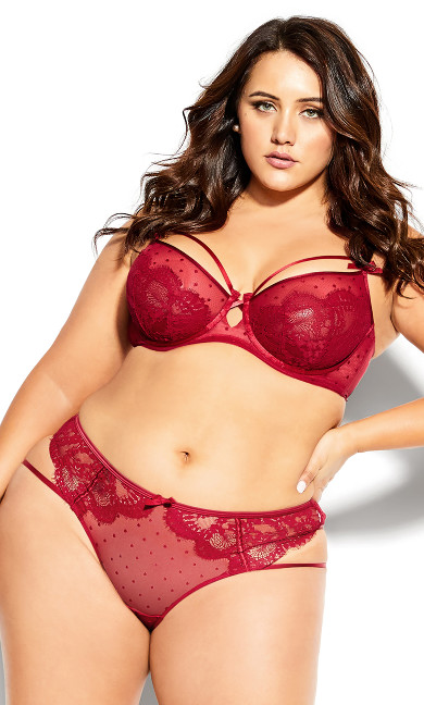 Plus Size Clementine Ouvert Shorty - shiraz