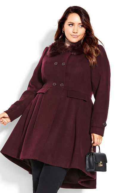 Grandiose Coat - spiced plum