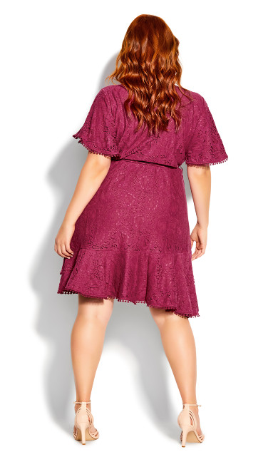 Sweet Love Lace Dress - magenta