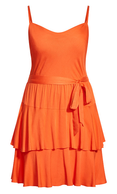 Mini Frill Dress - sunkist
