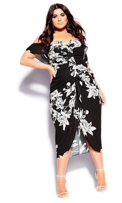 Women's Plus Size Gabriela Dress - black