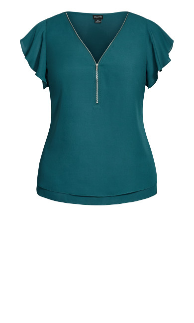 Zip Fling Top - alpine