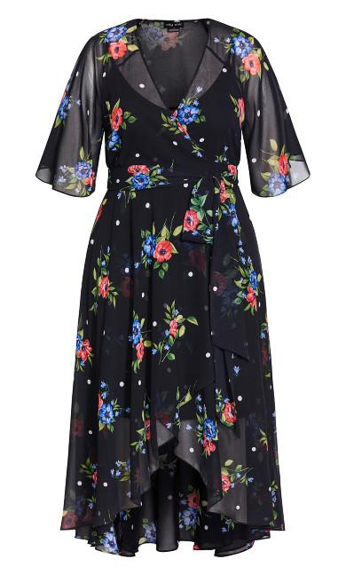 Float Bouquet Maxi Dress - black
