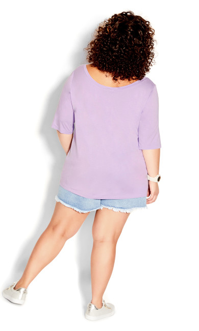 Off Shoulder Tee - lilac