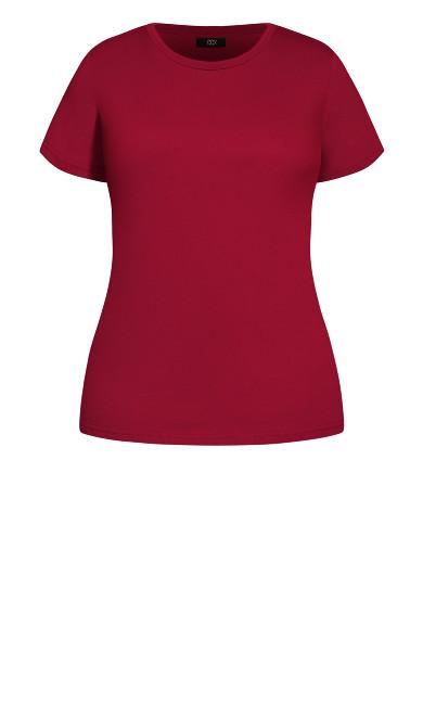 Basic Longline Tee - ruby