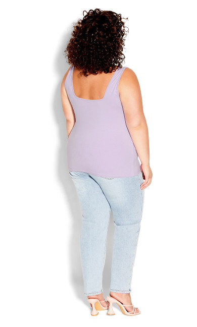 Square Neck Cami - lilac