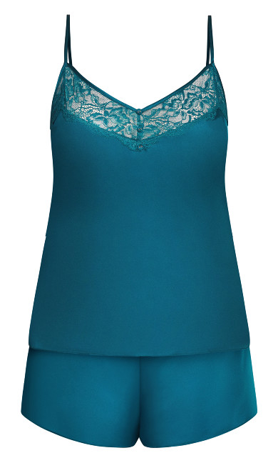 Ally Short PJ Set - teal