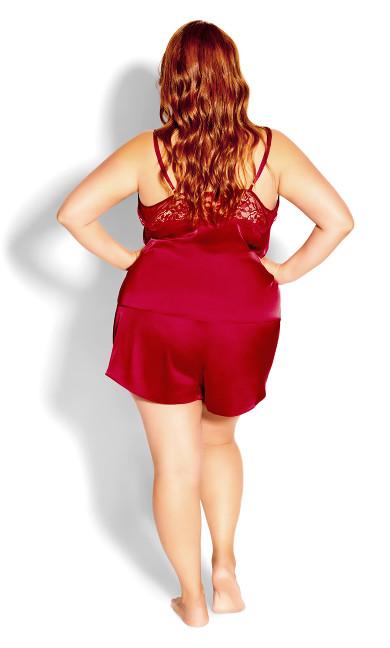 Ally Short PJ Set - scarlet