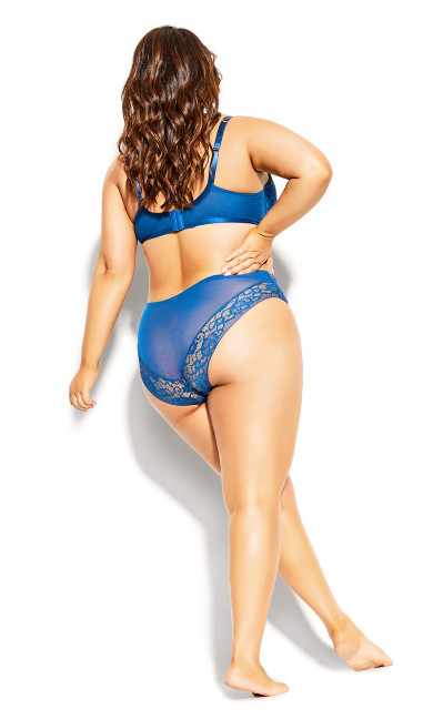 Mia Longline Contour Bra - mykonos blue