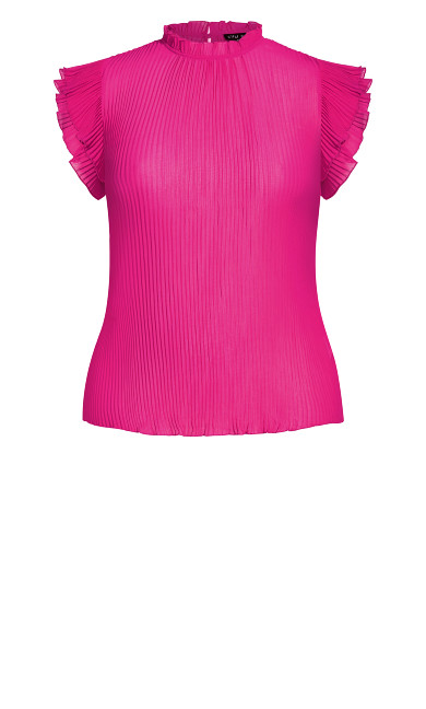 Off Beat Top - shock pink