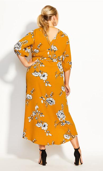 Serene Floral Maxi Dress - gold