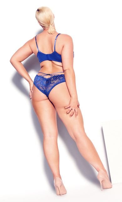 Olivia Strappy Lace Bra - turkish blue