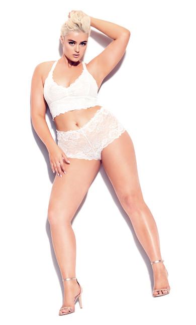 Plus Size Kira Bralette - ivory