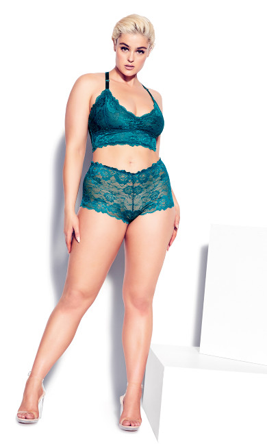 Kira Lace Boyshort - teal