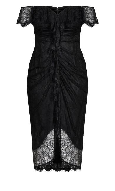 Lace Va Voom Dress - black