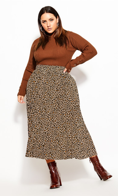 Plus Size Cheetah Skirt - cheetah