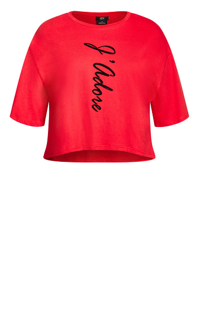 Phrases Tee - red