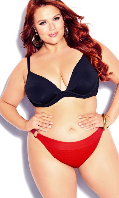 Plus Size Vibeka Bikini Top - black
