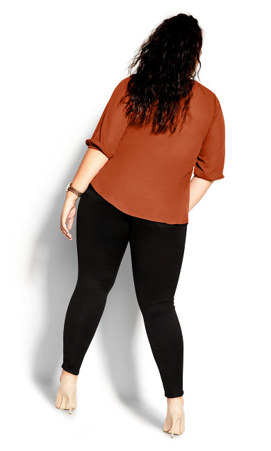 Sexy Fling Elbow Sleeve Top - ginger