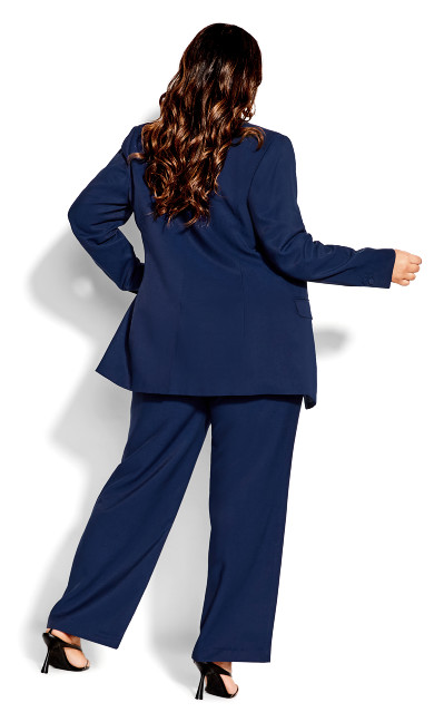 Essence Longline Jacket - navy