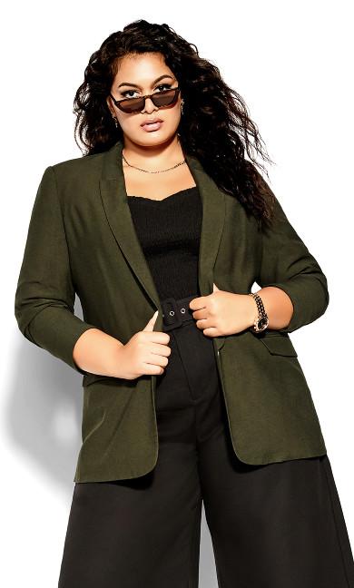 Longline Essence Jacket - ivy