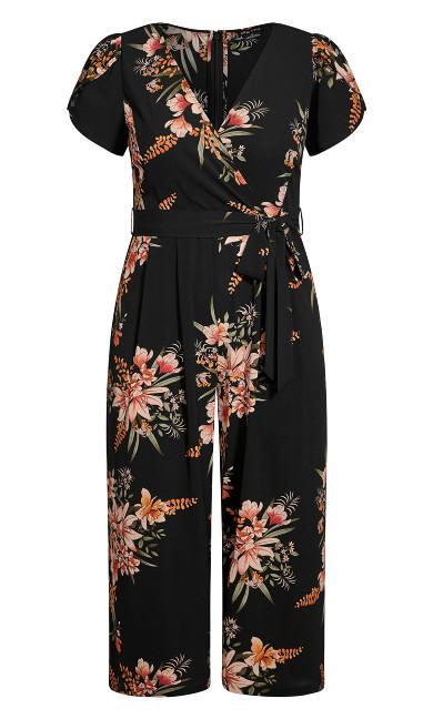Sweet Floral Jumpsuit - black