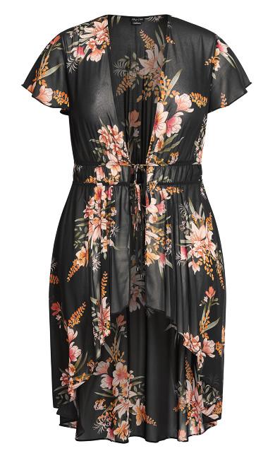 Sweet Floral Jacket - black