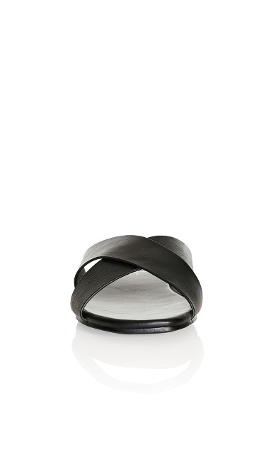Plus Size Aditi Slide - black