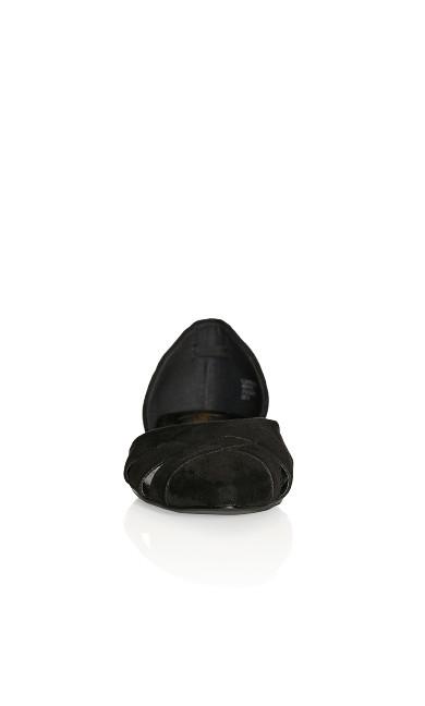 Plus Size Clara Flat - black