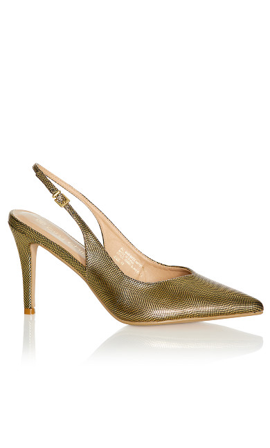 Plus Size Jemma Sling Back Heel - gold