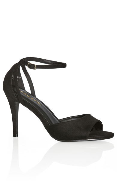 Plus Size Bria Heel - black
