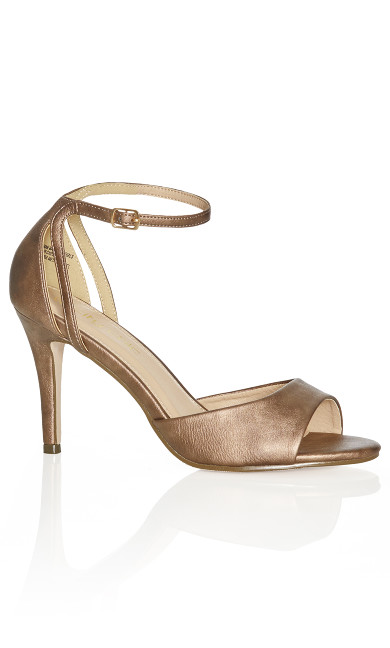 Plus Size Bria Metallic Heel - bronze