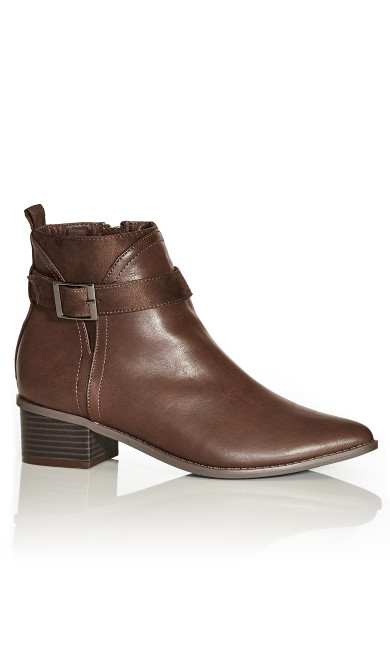 Plus Size Micah Ankle Boot - chocolate