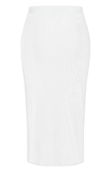 Mesh Maxi Skirt - white