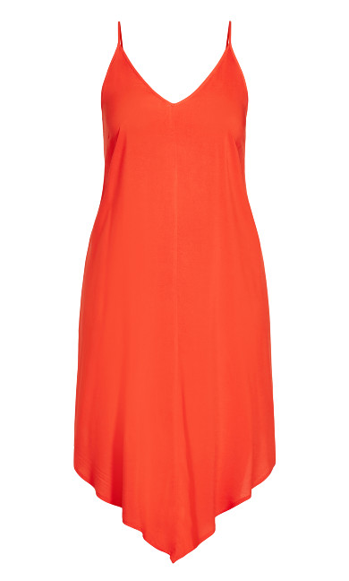 Sweet V Dress - papaya