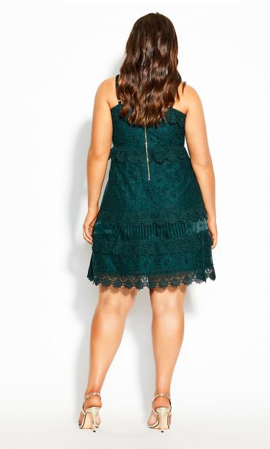 Nouveau Lace Dress - emerald