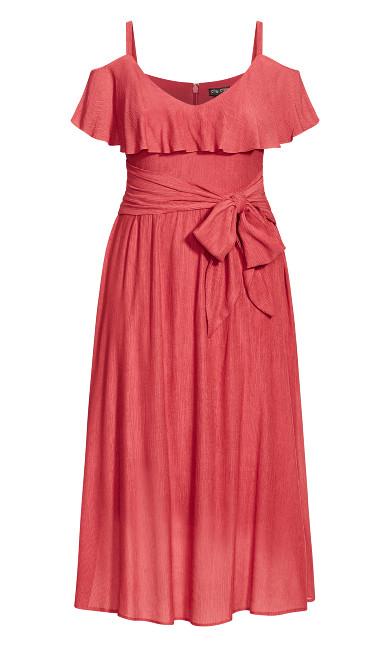 Romantic Tie Dress - raspberry