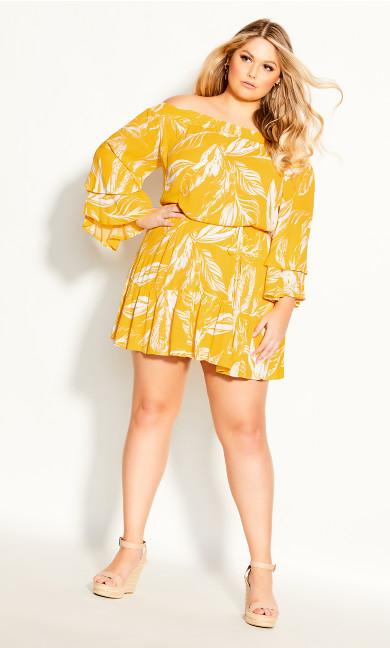Plus Size Sunshine Tropical Dress - sunshine