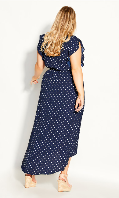 Fresh Spot Maxi Dress - navy