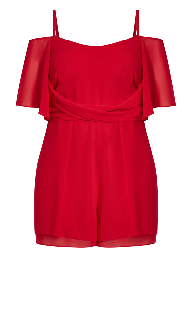 Felicity Playsuit - red